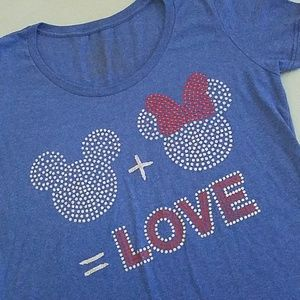 Mickey + Minnie = LOVE Disney T-shirt XL